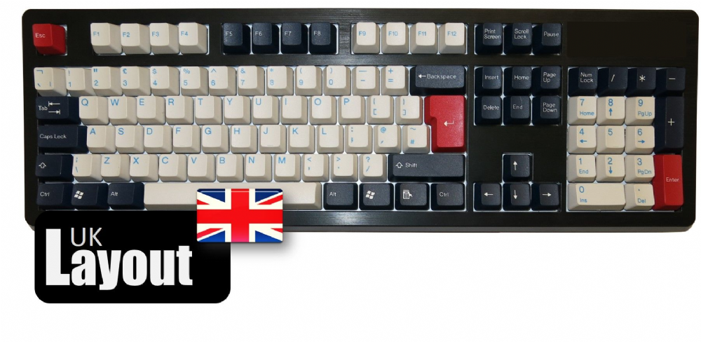 Tai-Hao ABS Double Shot Keycaps Navy Blue UK